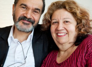 Portrait of two mature jewish individuals who found each other online.